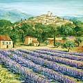 Saint Paul De Vence And Lavender by Marilyn Dunlap