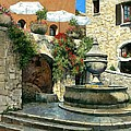 Saint Paul De Vence Fountain by Michael Swanson
