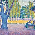 Saint-tropez Fontaine Des Lices by Paul Signac