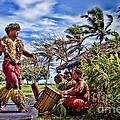 Samoan Torch Bearer Print by David Smith