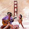 San Francisco Guitar Man by Robert Smith
