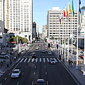 San Francisco Moscone Center and Skyline - 5D20515 Print by Wingsdomain Art and Photography