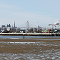 San Francisco Skyline And The Bay Bridge Through The Port Of Oakland 5d22238 by Wingsdomain Art and Photography
