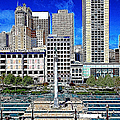 San Francisco Union Square 5d17938 Artwork by Wingsdomain Art and Photography
