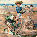 Sand Castles At The Beach by Unknown
