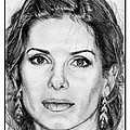 Sandra Bullock in 2005 Print by J McCombie
