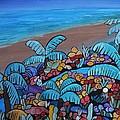 Santa Barbara Beach Print by Barbara St Jean