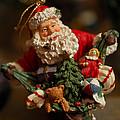 Santa Claus - Antique Ornament - 04 by Jill Reger
