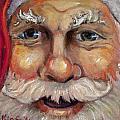Santa Closeup by Sheila Kinsey
