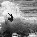 Santa Cruz Surfer Black And White by Paul Topp