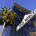 Santa Monica Blvd Sign In Beverly Hills California by Paul Velgos