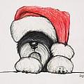 Santa Schnauzer by Katerina A Cechova