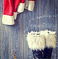 Santa's Boots Print by Amanda And Christopher Elwell