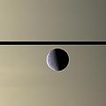 Saturn Rhea Contemporary Abstract by Adam Romanowicz