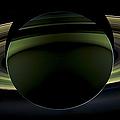 Saturns Glowing Rings by Adam Romanowicz