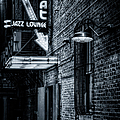 Scat Lounge In Cool Black And White by Joan Carroll