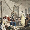 Scene In Bedlam, Plate Viii, From A Print by William Hogarth