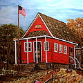 School House by Kenneth  LePoidevin