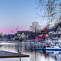 Schuylkill River And Boathouse Row Philadelphia by Bill Cannon