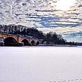 Schuylkill River - Frozen by Bill Cannon