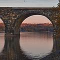 Schuylkill River Railroad Bridge In Autumn by Bill Cannon