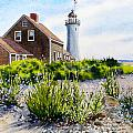 Scituate Light By Day by Karol Wyckoff
