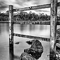 Scottish Loch With Fence by John Farnan
