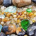 Seaglass Art Prints Coastal Beach Sea Glass by Baslee Troutman