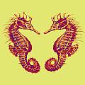 seahorses in love Print by Jane Schnetlage