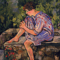 Seated Young Woman by Marie Clementine Valadon