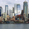 Seattle Waterfront Skyline Print by Ron Roberts