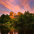 Sedona Moonrise Print by Adam  Schallau