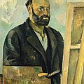 Self Portrait With Palette by Paul Cezanne