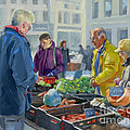 Selling Vegetables At The Market by Dominique Amendola