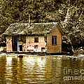 Sepia Floating House by Robert Bales