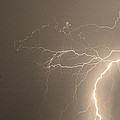 Sepia Tropical Thunderstorm Night  by James BO  Insogna
