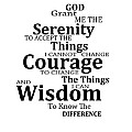 Serenity Prayer 6 - Simple Black And White by Sharon Cummings