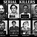 Serial Killers - Public Enemies Print by Paul Ward
