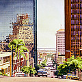 Seventh Avenue In San Diego by Mary Helmreich