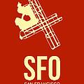Sfo San Francisco Airport Poster 2 by Naxart Studio
