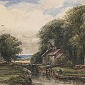 Shardlow Lock With The Lock Keepers Cottage by James Orrock