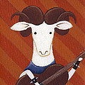Sheep Guitar Print by Christy Beckwith