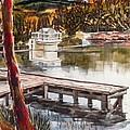 Shepherd Mountain Lake In Twilight by Kip DeVore