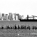 Ship In The Harbor 1990s by John Rizzuto