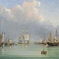 Ships Off Ryde by Arthur Wellington Fowles