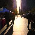 Shopping Stands Along Market Street At San Francisco's Embarcadero - 5d20842 by Wingsdomain Art and Photography