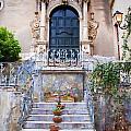 Sicilian Village Steps And Door by David Smith