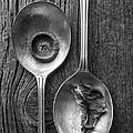 Silver Spoons Black And White by Edward Fielding