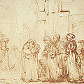Simeon and Jesus in the Temple Print by Rembrandt Harmenszoon van Rijn