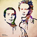 Simon And Garfunkel by Aged Pixel